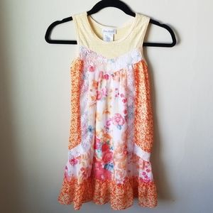 Jona Michelle floral dress, like new, lace detail